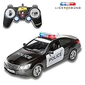 Amazon Com Prextex Rc Police Car Remote Control Police Car Rc Toys
