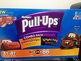 Huggies Pull Ups Combo Pack 3t 4t 62+24=86