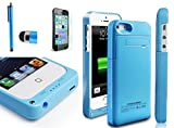 Power External Protective Battery Case [+Japanese Screen Film] for iPhone 5s / iPhone
