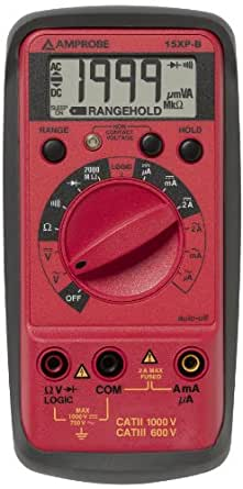 Amprobe 15XP-B Compact Digital Multimeter with Non-Contact Voltage Indicator and Logic Test