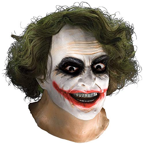 Batman The Dark Knight Adult Joker Latex Mask With Hair, Adult One Size ()