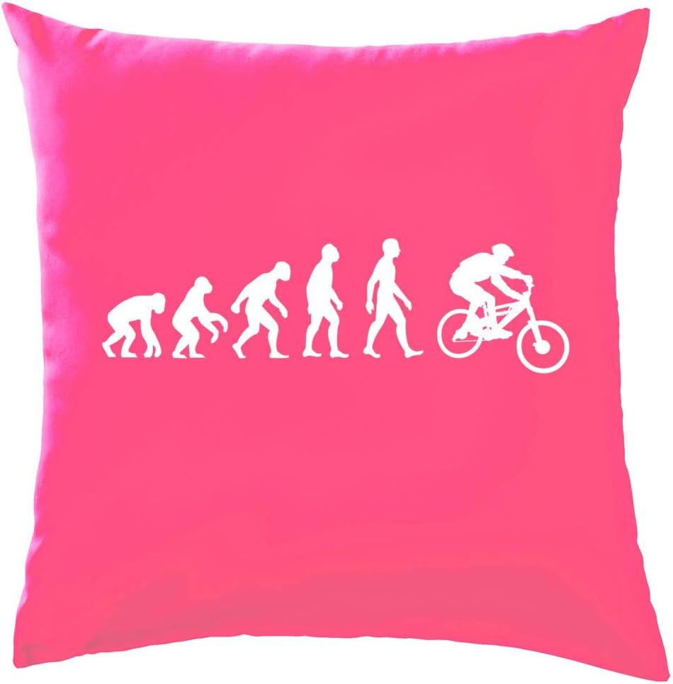 - Black Cushion//Pillow - 41 x 41cm Dressdown Evolution of Man Mountain Bike with Insert One Size 16