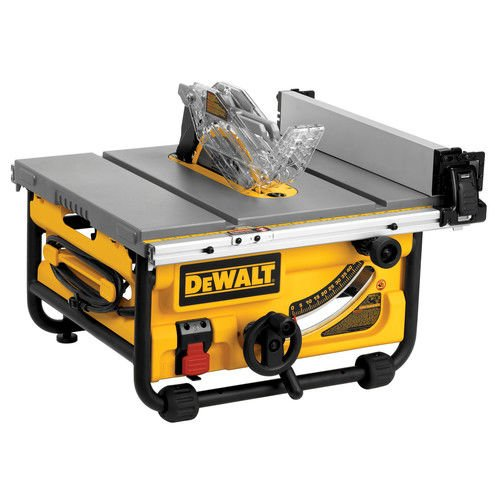 - DEWALT DWE7480 10 in. Compact Job Site Table Saw with Site-Pro Modular Guarding System