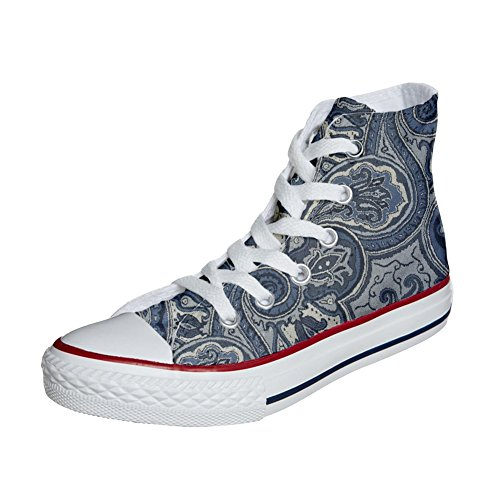 Star Handwerk All Schuhe Converse Customized Blue Produkt Paisley personalisierte 5gnvxXq