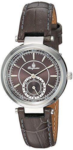 Burgmeister Women's Quartz Metal and Leather Casual Watch, Color:Grey (Model: BM336-190)