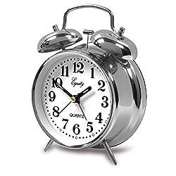 Double Bell Quartz Bedside Alarm Clock