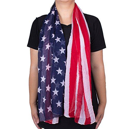 Patriotic American Pattern Womens Scarf