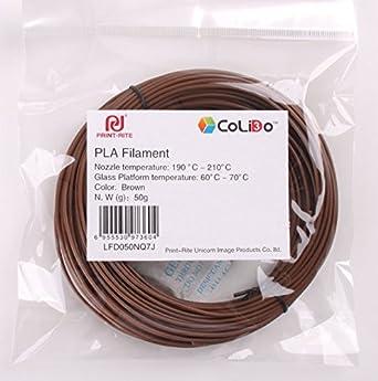Filamento 3D para Impresora y bolígrafo -PLA-50G-US: Amazon.es ...
