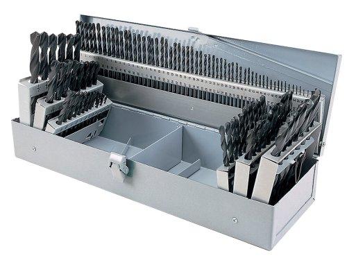 - Steelex D1137 HSS Drill Bit Set in Steel Index, 115-Piece