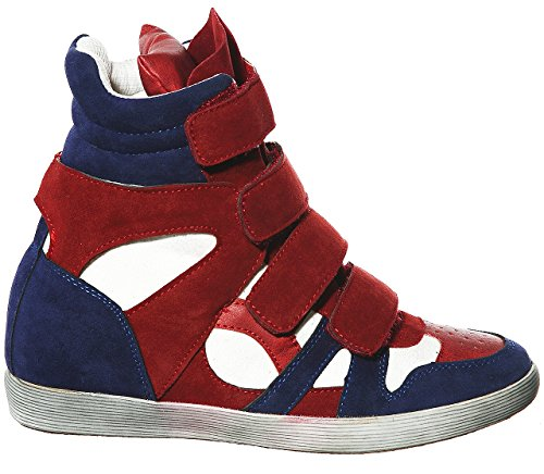 Top up R Fashion Wedge Lace Hi dkred Women's Pl Sneakers shoewhatever g1nwtqTAA
