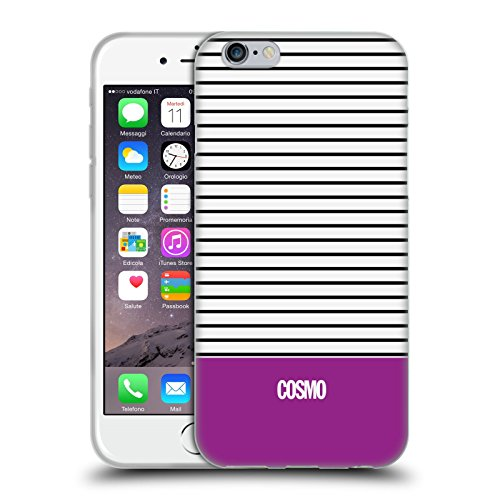 Official Cosmopolitan Violet 1 Stripes Collection Soft Gel Case for Apple iPhone 6 / 6s