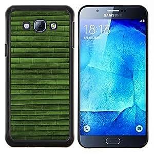 """Be-Star Único Patrón Plástico Duro Fundas Cover Cubre Hard Case Cover Para Samsung Galaxy A8 / SM-A800 ( Modelo verde Naturaleza Bambú"""" )"""
