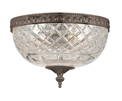 Crystorama 117-8-EB Crystal Two Light Ceiling Mounts from Richmond collection in ()
