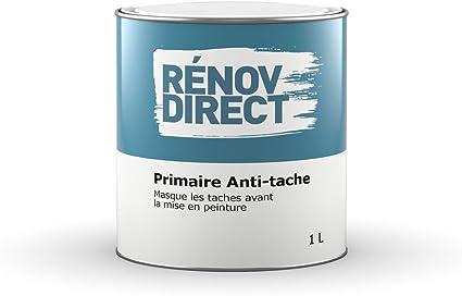 Renovdirect Primaire Anti Tache Peinture Qui Masque Les Taches Et Odeurs Avant Mise En Peinture 1l Amazon Fr Bricolage