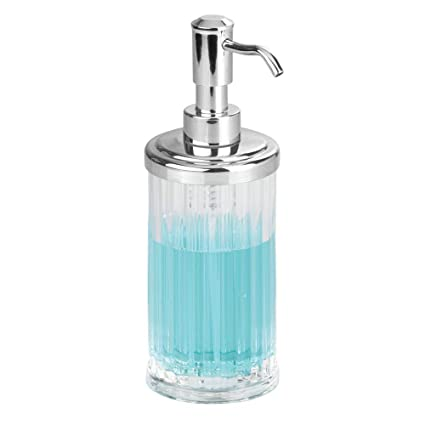 InterDesign Alston Dispensador de jabón líquido para manos, dosificador de jabón recargable de plástico,