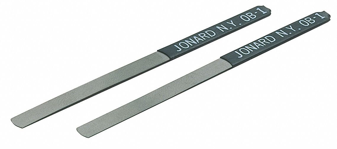 Steel Contact Burnisher File, Fine, Oblong with Curved Tip