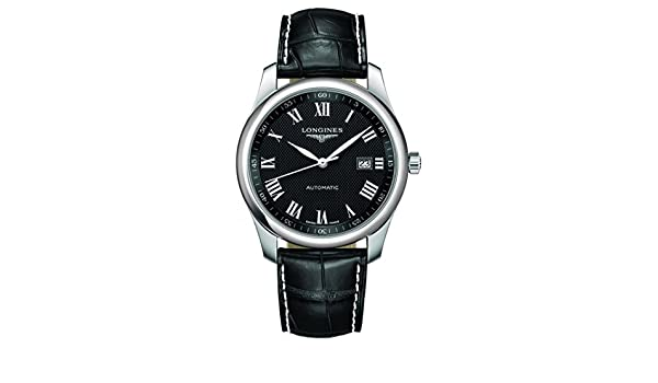 Amazon.com: Longines Master Collection Leather Automatic Mens Watch L27934517: Watches