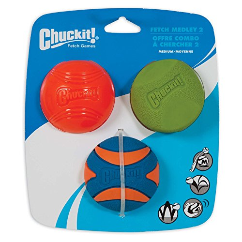 Chuckit! Fetch Medley 2 Pet Toy Balls, Medium Review