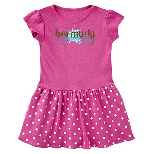 inktastic - Bermuda Infant Dress 18 Months Raspberry with Polka Dots c61d ()