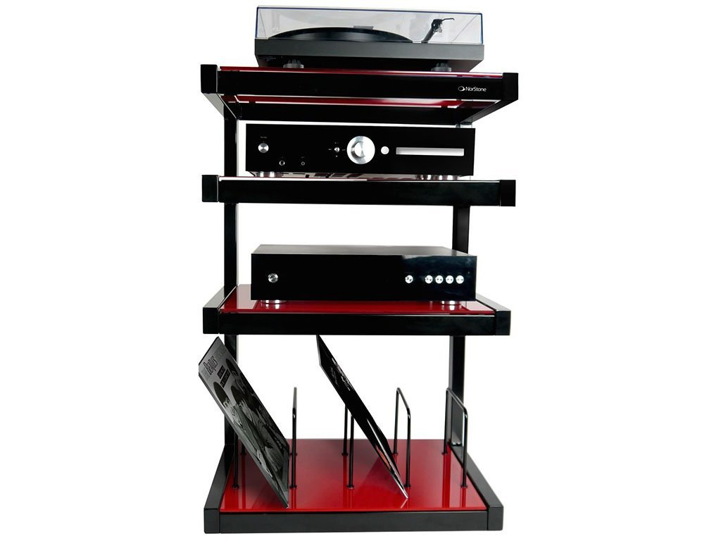 Norstone They Hi Fi Mobile Vinyl Hi Fi Stand For Discs Amazon Co  # Norstone Meuble Tv