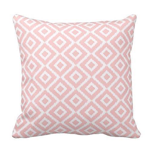 Custom decorativa fundas de cojín luz rosa y blanco diseño ...