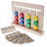 Baoblaze Intellectual Logical Play Moving 4 Colors Ball Blocks Board Game Children Educational Toy Party Favors