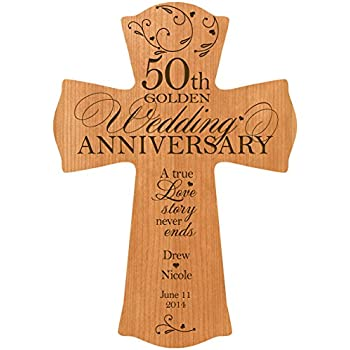 personalized 50th wedding anniversary wood wall cross gift for couple 50 year anniversary gifts for her anniversary gifts for him a true love story never