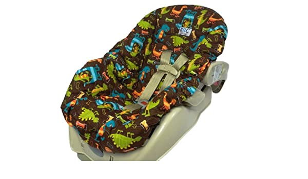 Dino Car Seat >> Amazon Com Quilted Infant Car Seat Cover Dino Dudes Baby