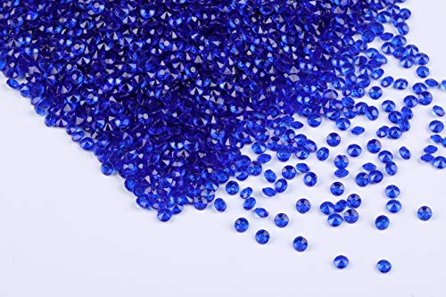 Gintoaria 10000 pcs/Pack Wedding Table Scatter Confetti Crystals Acrylic Diamonds Vase Fillers 4.5 mm Rhinestones for Wedding, Bridal Shower, Vase Beads Decorations (Royal Blue)