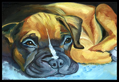 Boxer Door Mat - Caroline's Treasures 7401MAT Boxer Pup Indoor or Outdoor Mat, 18