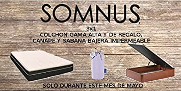Desconocido 3x1 COLCHON Mod.MILENIUM Regalo CANAPÉ+Sabana Bajera DE 135X190