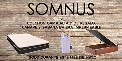 colchones-somnus 3x1 COLCHON Mod.MILENIUM Regalo CANAPÉ+Sabana Bajera DE 90X190: Amazon.es: Hogar