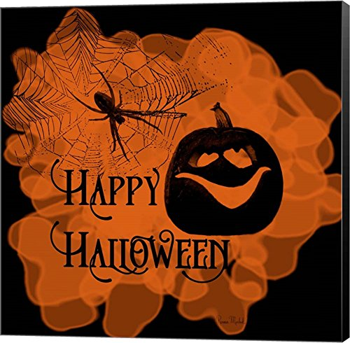 Happy Halloween Pumpkin by Ramona Murdock Wall art