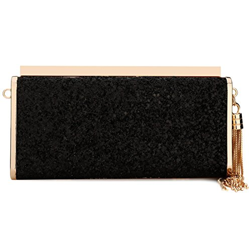 Women Evening Purse Handbag Handbag Glitter Purses Bling Black Clutch Evening Sparkling Evening EROUGE t8zqB4q