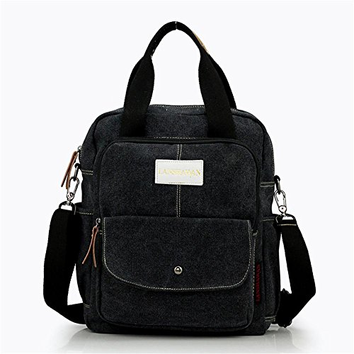 OOLIFENG La bolsa de mensajero hombres y mujeres viajes de placer retro bolsa de del hombro , green Black