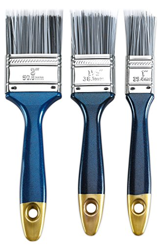Paint Brush Set - Polyester Bristles 3 Piece Value Pack - Tools & Home Improvement, Painting Supplies & Wall Treatments, Paint Brushes - By Katzco
