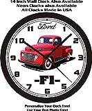 1948-1950 FORD F1, F100 PICKUP TRUCK WALL CLOCK-FREE USA SHIP!
