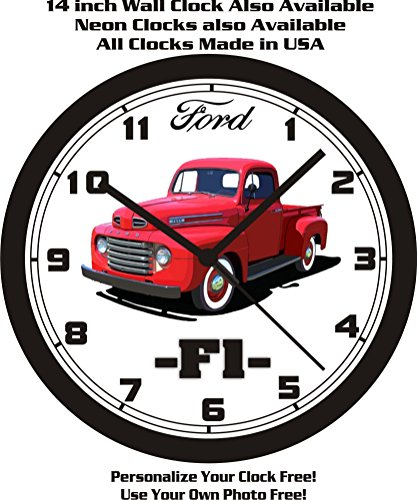 1948-1950 FORD F1, F100 PICKUP TRUCK WALL CLOCK-FREE USA SHIP!