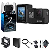 GoPro HERO7 Black - Waterproof Action Camera with Touch Screen, 4K HD Video, 12MP Photos, Live Streaming and Stabilization - Base Bundle