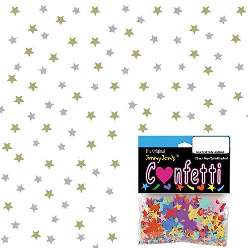 0.5 Ounce Confetti Stars - Confetti Star 1/8