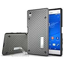 Sony Xperia Z5 Premium Case, Cocomii® [HEAVY DUTY] Net Case :::NEW::: [ULTRA RADIATOR ARMOR] Premium Shockproof Kickstand Bumper [MILITARY DEFENDER] Full-body Rugged Dual Layer Hybrid Cover for Sony Xperia Z5 Premium ★★★★★ (Gray)