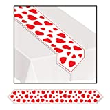 Kitchen & Housewares : Printed Heart Table Runner Party Accessory (1 count) (1/Pkg)