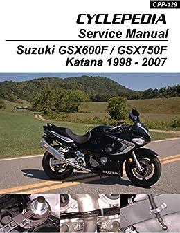 amazon com suzuki gsx600f gsx750f katana service manual Suzuki Drz400s Wiring Diagram