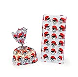 172 Pc Pirate theme Party Favors Pack Bundle Boy's Girl's Bags Rings Finger Puppets Flags Stickers Tattoos Toys