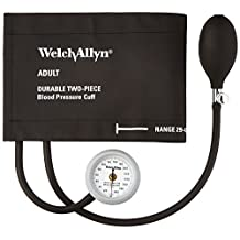 Welch Allyn DS44-11CB, Durashock 2 Piece Aneroid with Adult Black Cuff and Bl...