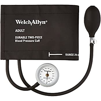 Welch Allyn DS44-11CB Gauge with Durable Two Piece Cuff and Bladder, Adult
