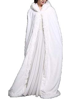 Abrigo de Invierno cálido con Capucha Capa de la Novia de la Boda de la Boda