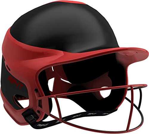 Rip-It Vision Pro Away Softball Batting Helmet (Away Scarlet, Small/Medium)