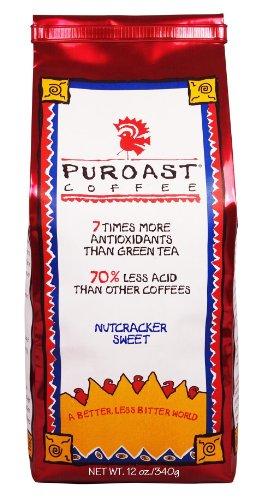 (Puroast Low Acid Coffee Nutcracker Sweet Whole Bean, 0.75-Pound Bag (Pack of 2))