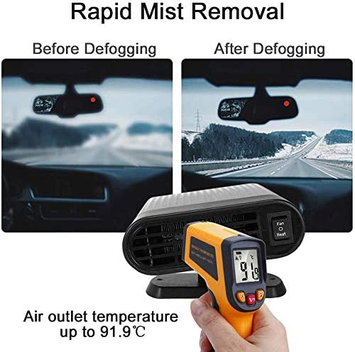 SONYANG Upgrade Car Heater 2 in 1 Portable Fast Heating Car Heater with Heating /& Cooling Function Defroster Defogger 12V 150W Demister Vehicle Heater Fan for Windshield Gray